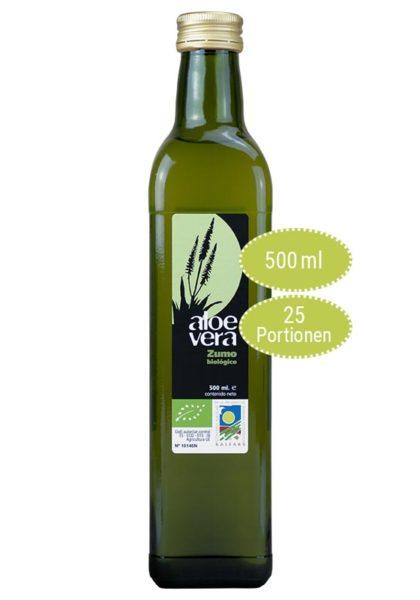 Aloe vera Saft mit 99,8 % Bio Aloe vera