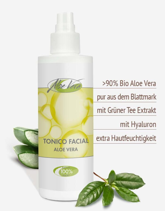 Bio Aloe vera Gesichtstonic in Premium-Qualität