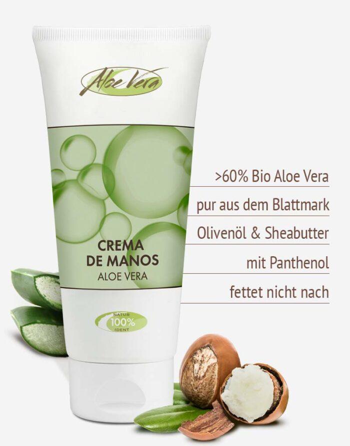 Bio Aloe vera Handcreme in Premium-Qualität