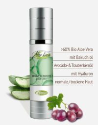 Bio Aloe vera Nachtcreme in Premium-Qualität
