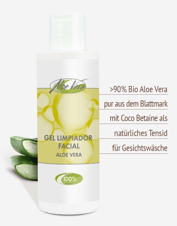 Bio Aloe vera Reinigungsgel in Premium-Qualität