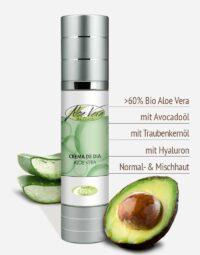 Bio Aloe vera Tagescreme in Premium-Qualität