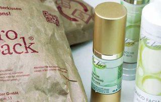 Aloe vera - Lieferung mit nachhaltiger Verpackung