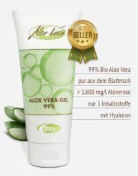 Bio Aloe vera Gel pur 99 % Premium-Qualität