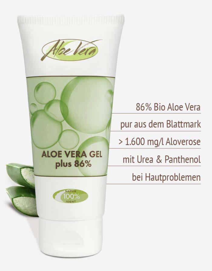 Bio Aloe vera Gel mit Urea in Premium-Qualität