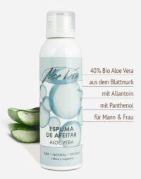 Bio Aloe vera Rasierschaum in Premium-Qualität