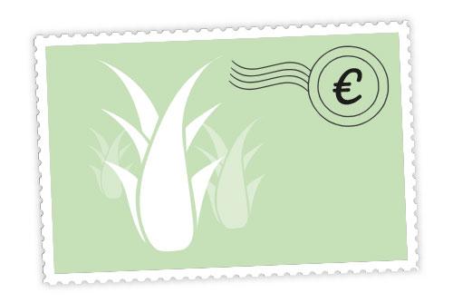 Aloe vera Briefmarke