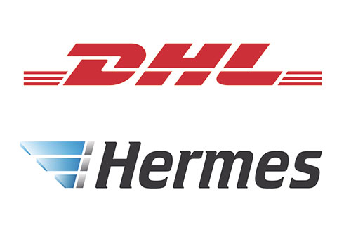 Logos DHL und Hermes
