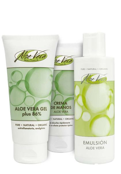 Aloe vera Repair Set mit Emulsion, Handcreme und Gel 86 %