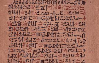 Ausschnitt des Papyrus Ebers