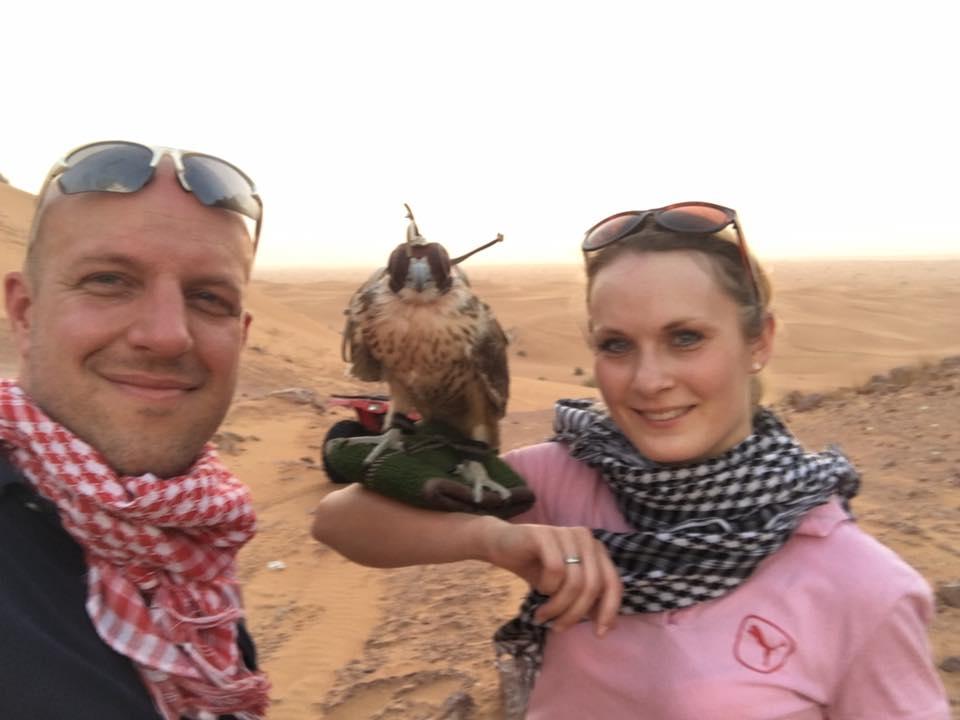 In der Wüste von Dubai