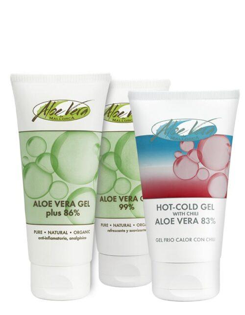 Aloe vera Gel Set mit Bio Aloe vera