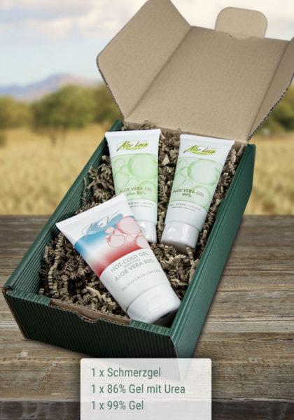 Geschenkbox Aloe Vera Gel Set