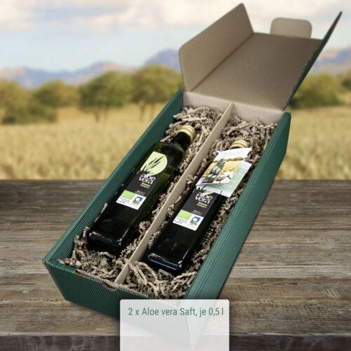 Geschenkbox Aloe Vera Saft Set