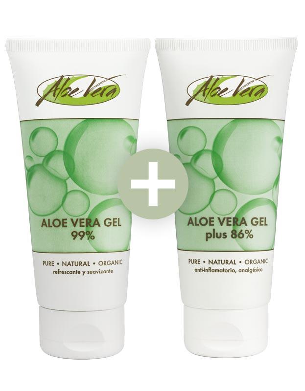 Aloe Vera Gel + Gel mit Urea
