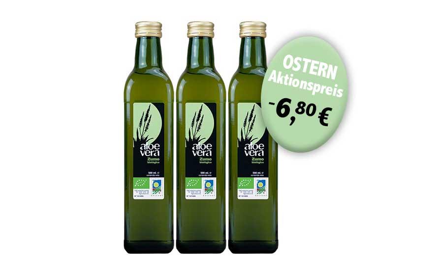 3 Flaschen Aloe Vera Saft Angebot