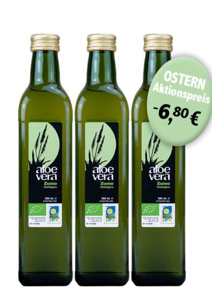 3 Flaschen Aloe Vera Saft - günstiger zu Ostern