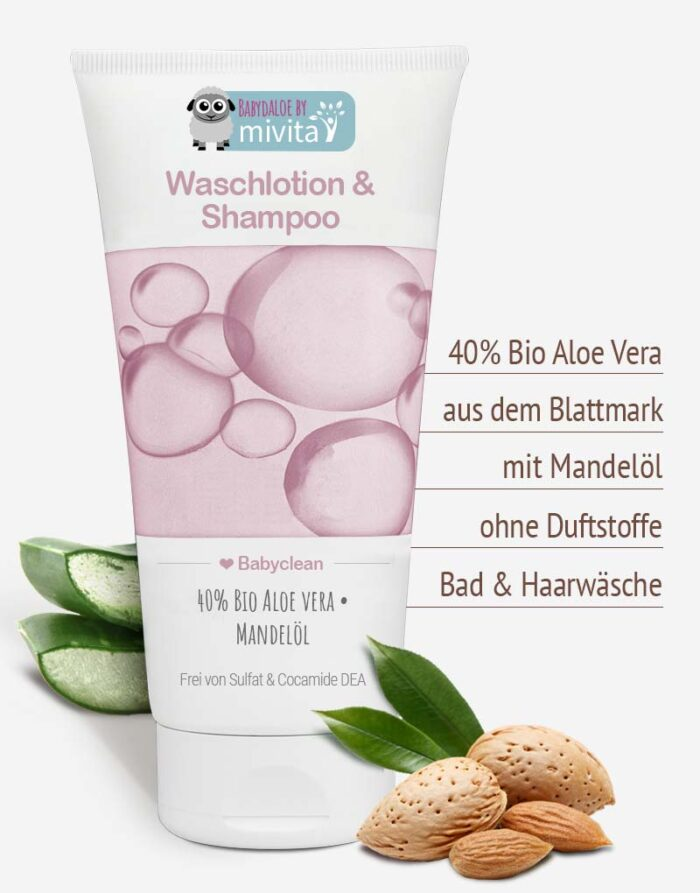 Bio Aloe vera Baby Shampoo in Premiumqualität