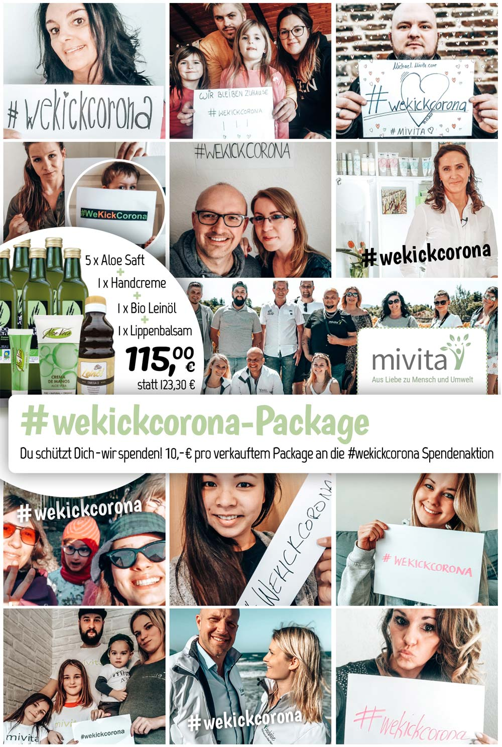#wekickcorona Package Team Mivita