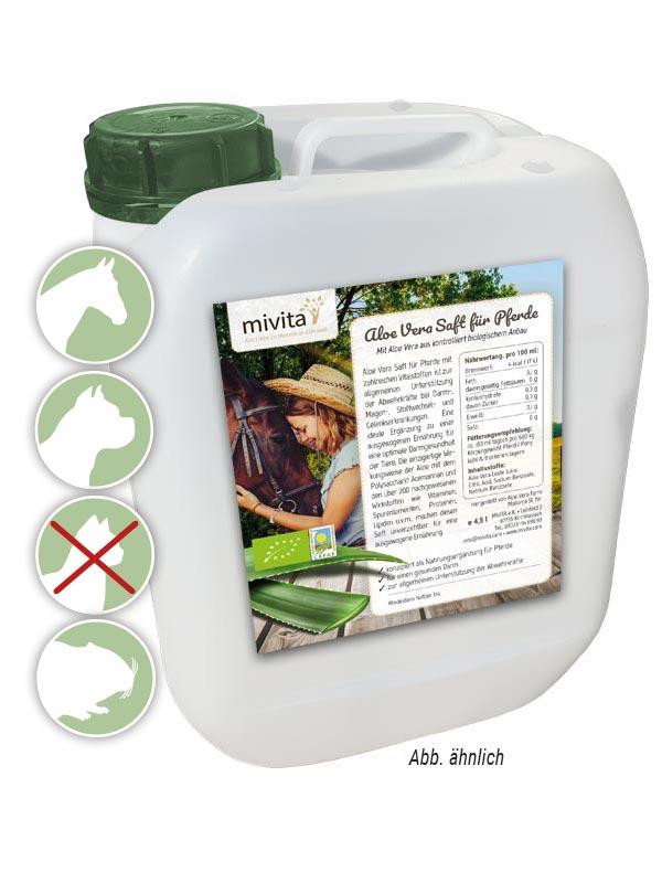 Bio Aloe Vera Saft für Pferde