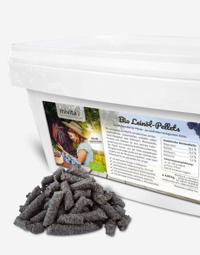 Bio Leinöl Pellets für Pferde