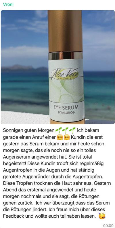 Feedback Aloe Vera Augencreme