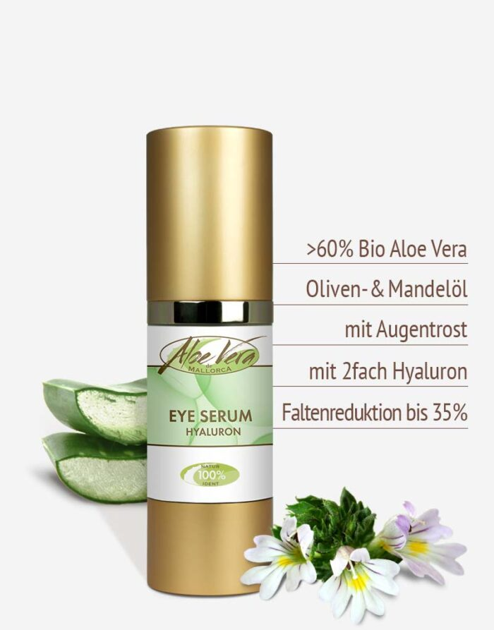 Bio Aloe vera Augencreme in Premium-Qualität