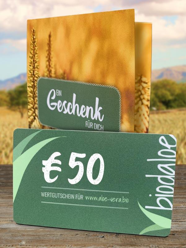 Wertgutschein 50 €