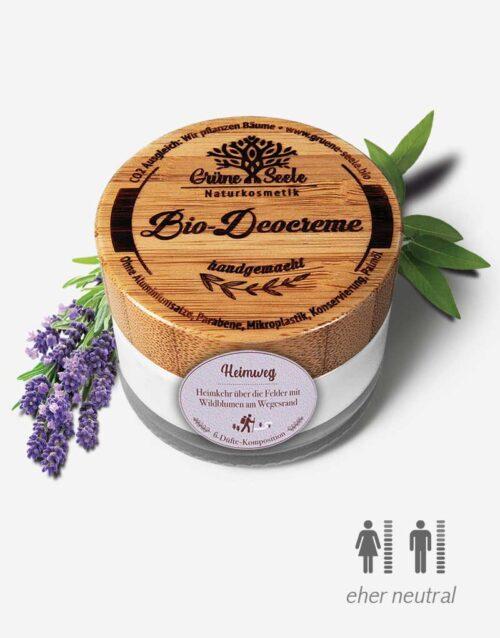 Bio Deocreme Heimweg mit Lavendel
