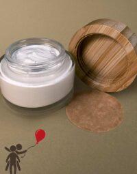 Bio Deocreme ohne Duft offener Tiegel