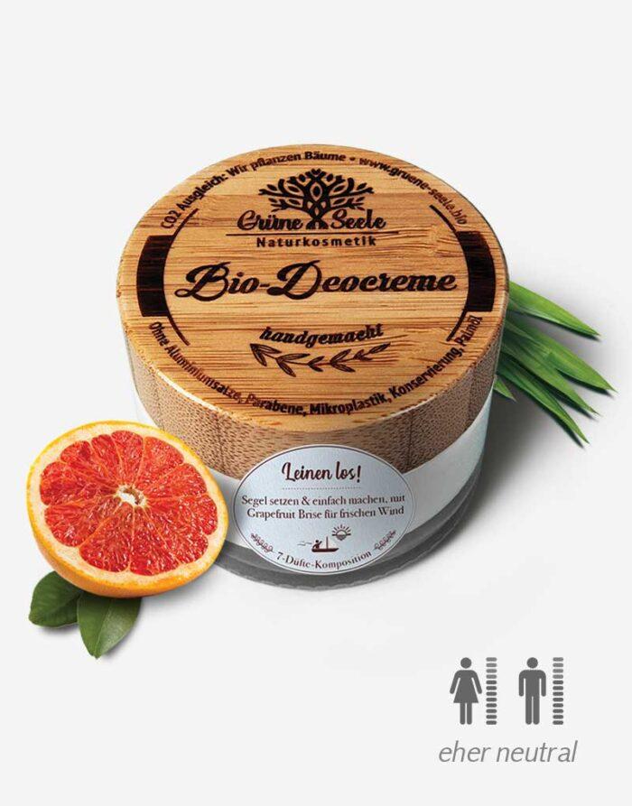 Bio Deocreme Leinen los mit Grapefruit
