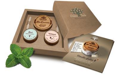 Geschenkboxen mit Bio Deocremes