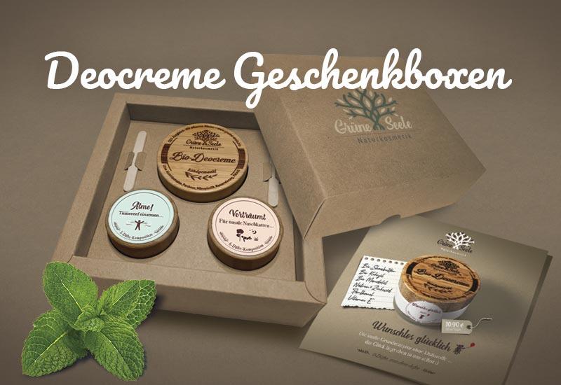 Bio Deocreme Geschenkboxen