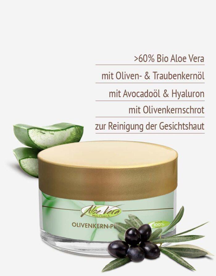 Bio Aloe vera Peeling mit Olivenkernschrot