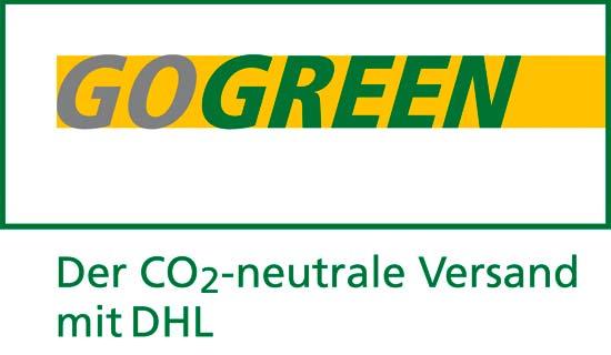 DHL Go Green Logo - CO2 neutraler Versand