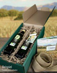 Geschenkbox Verpackungsservice Beispiel Saft Set